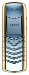 Vertu Signature Stainless Steel with Yellow Metal Bezel